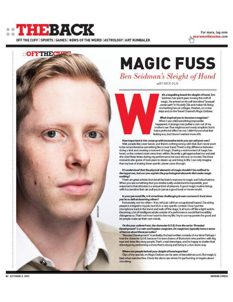 thumbnail of Article_Express MKE article Ben Seidman
